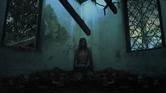 Going Home (J.J.Evan) Tags: woman mujer dolor pain violence violencia peso retrato árbol house casa old abandoned ruins ruinas