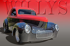 1940 Willys Red Hot (Brad Harding Photography) Tags: 1940 40 willys hotrod musclecar streetrod customized restoration restored antique classic leavenworth kansas red black