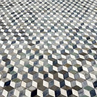 2000 years old optical illusion floor
