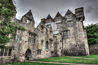 Donegal Castle. County Donegal. Irishman's hands.