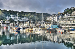 Reflections of West Looe, Cornwall (Baz Richardson (trying to catch up again!)) Tags: cornwall westlooe yachts smallboats looeriver cornishharbours looe
