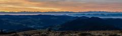 Belchen Sonnenaufgang Panorama (Michael-Herrmann) Tags: nikon d500 black forest schwarzwald belchen mountain berg view morning sunrise colors autumn colorful pano panorama 85mm alps alpen aussicht