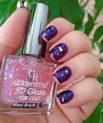 Guga e 3D Glaze (Dora Cristina Fernandes) Tags: goldenrose flakie purplenailpolish esmalteroxo nagellack smaltoperunghie esmaltes naillacquer vernisàongles vernizesdeunhas nailart unhasartísticas unhasdecoradas manicure nailpolish
