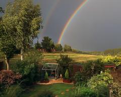 AUTUMN SKY (midlander1231) Tags: rainbow weather autumn thunder thunderysky garden storm trees woodland landscape rain nature