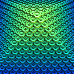 Button Pyramid 1000x1000 (Lyle58) Tags: buttons pyramid blue green ombre gradient threedimensional computergenerated rendering geometric mathematical math geometry