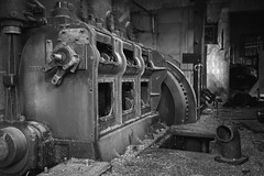 Abandoned mining (No Stone Unturned Photography) Tags: hiyu alaska mining urbex abandoned building machinery gold monochrome blackandwhite tin