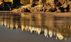 Reflecting on the Day (suerowlands2013) Tags: polzeath northcornwall reflections goinghome endoftheday wetsand beach