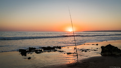 Sunset Fishing (C.A.Photogenics) Tags: contrast color colour coast water walk exposure earth beautiful reflection tan yellow sky day summer sun light night life vibarance orange sony peaceful photo photographer portugal artistic art a7rii angle amazing amateur sea sunshine holiday clarity view nature natural movement motion sunset