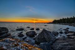 Rocky shore (Arttu Uusitalo) Tags: 14mm samyang twilight evening summer mkiv 5d eos canon wideangle rocky shore finland raippaluoto replot ostrobothnia sea baltic kvarken seashore sunset