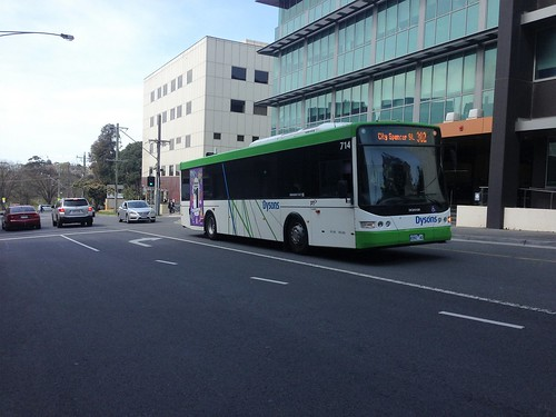 Dysons #714 running Transdev 302 route
