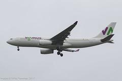EC-MNY - 1999 build Airbus A330-243,  inbound to Manchester on a Monarch Airlines repatriation flight (egcc) Tags: 261 9mazl a330 a330200 a330243 a332 airbus eb ecmny egcc gggen gsman lightroom man manchester monarch monarchairlines plm ringway wamos wamosair