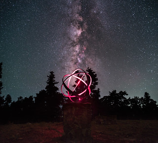 Sundial Clock & the Milky way