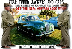Get the  real vintage look  part 16 (80s Muslc Rocks) Tags: nz newzealand car cars auto autos vehicle vehicles retro vintage club rally vintagecar oldcar canon cavalrytwilltorusers wool plaid scottish scotland british uk thetweedride tweedflatcap cheesecutter gent man fashion oldschool houndstooth outdoor sky grass oldcars parked carshow poster artwork manwearingtweed wearrtweed yorkshire auckland whangarei tauranga gisborne hastings napier hamilton newplymouth plamerstonnorth wellington nelson christchurch dunedin invercargill distinguishedgentlemensride sydney london melbourne