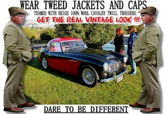 Get the  real vintage look  part 18 (80s Muslc Rocks) Tags: nz newzealand car cars auto autos vehicle vehicles retro vintage club rally vintagecar oldcar canon cavalrytwilltorusers wool plaid scottish scotland british uk thetweedride tweedflatcap cheesecutter gent man fashion oldschool houndstooth outdoor sky grass oldcars parked carshow poster artwork manwearingtweed wearrtweed yorkshire auckland whangarei tauranga gisborne hastings napier hamilton newplymouth plamerstonnorth wellington nelson christchurch dunedin invercargill distinguishedgentlemensride sydney london melbourne