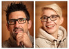 Cozy Sunday Diptych (Prozac74) Tags: anderestichwörter canonef85mmf12liiusm canoneos5ds canonspeedlite580exii neewersoftbox prozac74 autumn couple diptych earthcolors fall glasses me myprecious portrait sauna strobist sweater warmlight wideopenaperture wood