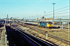47586 with the Leeds-London Kings Cross parcels vans, Harringey 22 January 1989. (mikul44171) Tags: 47586 harringey flyover vans parcels