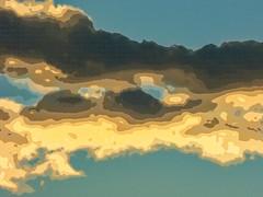 Contour Lines (Steve Taylor (Photography)) Tags: art digital blue brown yellow newzealand nz southisland canterbury christchurch northnewbrighton shape lines texture sky cloud