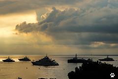 A l'aube du Yacht Show (Mc Mas) Tags: bateau larvoto mer monaco navire nuage mc
