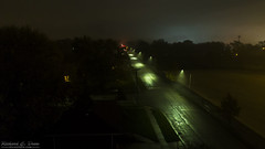 Phantom 4 Pro Foggy Night Photo (Rick Drew - 20 million views!) Tags: dji drone phantom4 pro dark evening lights street road fog rain mist glow night il illinois perspective