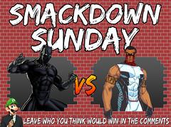 Smackdown Sunday- Black Panther VS Mr. Terrific (Luigi Fan) Tags: vs mr terrific marvel dc comics black panther