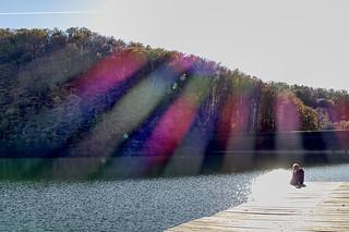 Flares on lake Petnja