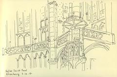 Église Saint-Paul - Strasbourg (lolo wagner) Tags: croquis sketch usk urbansketchers strasbourg eglise