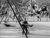 On Saturday the park swayed to the beat of children's hearts. (Andy Atzert) Tags: bw blackandwhite playground swings brooklyn washingtonpark