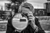 But first, let me take a ◊ selfie (Peter Jaspers) Tags: frompeterj© 2017 olympus zuiko omd em10 1240mm28 portrait selfie bw blackwhite zwartwit rotterdam rotjeknor museumpark dof bokeh mirror sensofmind fatamorgana delusion