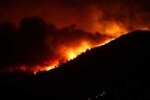 Incendio en el Monte Galleiro