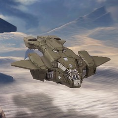 """D77H-TCI Pelican (from """"Halo 3"""") (Velocites) Tags: halo 3 pelican warthog video games xbox moc lego bungie 343"""