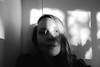 disappearing (Eli Modje) Tags: bw portrait lips blackandwhite face girl dream eye hair shadow light mystery black