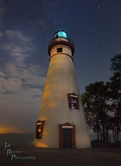 Marblehead After Hours (VonShawn) Tags: ohio marblehead lighthouse marbleheadlighthouse stars nightphotography clouds lakeerie