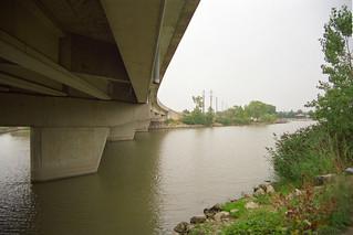 Under the Bridge over River Canard