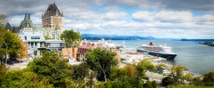 Quebec (Kev Walker ¦ 9 Million Views..Thank You) Tags: architecture building canon1855mm canon700d châteaufrontenac clouds cruiseship digitalart hdr historic panorama panoramic postprocessing queenmary2 québec saintlawrenceriver vieuxport