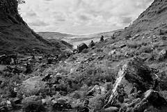 Landslip valley, Castle Ewan, Isle of Skye (hedshot) Tags: filmisnotdead ingrainwetrust landslip ferns skye geology sfx ilford 35mm infrared