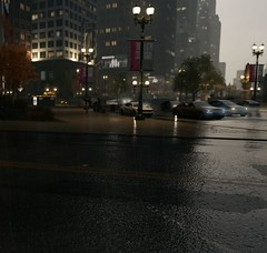 Traffic (Brandon ProjectZ) Tags: watchdogs ubisoft natural lighting mod windy overcast rain buildings roads trees cars