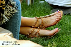 IMG_2377_Strappy sandals & purple toenails (sdttds) Tags: feet pretty sandals strappy toes arch ankles posed purplepolish beauty longtoes shoes footwear tstrap studded power femininity arches peds piedi pies pés pieds pedibus füse feminine 腳 フィート 足 ноги