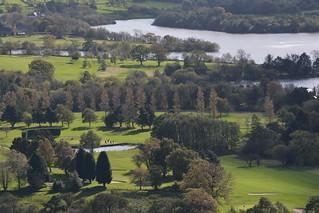 4 Ball on the 18th, Chapel-En-Le-Frith Golf Club, Derbyshire, England.