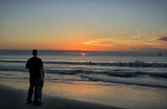 Sharing Life's Moments (dorameulman) Tags: sunrise dawn love people seaside sea ocean waves sky gardencity southcarolina beach haiku canon7dmark11 canon poem lifesmoments sand