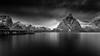 Sakrisoy #2 (Euan Ross (circa35mm)) Tags: landscape lofoten lofotenislands longexposure mono monochrome mountainrange mountains norway ostlind ostlindmountain sakrisoy sakrisoylofoten sakrisoynorway seascape snow water winter nikon formatt hitech