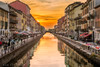 Tramonto sul Naviglio (AGB Milano) Tags: milano italy sunset tramonto naviglio leicam summicron50mm