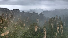 *Mountains of Illusion* (albert.wirtz) Tags: albertwirtz landscape avatar forest jamescameron cameron movielocation filmlocation panorama panoramic zhangjiajienationalforestpark zhangjiajie nationalpark china chinalandscape themiddlecountry landdermitte reichdermitte nebel fog mist dunst dust nebbia niebla brume bruma brouillard karst karstberge karstmountains mountains hill hügel tree baum herbst autunno fall autumn natur nature stitching mountainsofillusion xianggongshan dianjiangterrace geopark tianzi tanzpavillion scenic wulingyuan mustsee pandora worldofpandora hunan cili smoke haidafilternd09soft grauverlauffilter