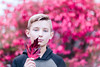 (Rebecca812) Tags: boy child tween headandshoulders portrait leaf autumn fall scarlet cooltones canon people fineart rebecca812