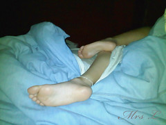 Tired (Mr2D2) Tags: feet sexyfeet sleepy anklet wife latina bed