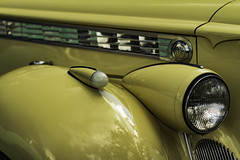 Packard detail (Thad Zajdowicz) Tags: zajdowicz rockville maryland usa outdoor outside automobile car vehicle transportation classic detail closeup color yellow colour headlight runninglight fender metal steel chrome canon eos 7d dslr digital lightroom availablelight glass ef50mmf12lusm 50mm primelens