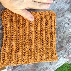 Hemp Washcloth (lady-ursula) Tags: ribbedwashcloth hemp 106yarn knittingpattern