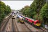 DB-UK 66128+Ealnos'n, Putney (London), 23-9-2017 (Allard Bezoen) Tags: trein train zug db dbuk deutsche bahn cargo united kingdom verenigd koninkrijk south western railway class 66 ealnos goederen goederentrein east putney london londen locomotief locomotive lokomotieve diesel dieselloc loco dieseltrein freight