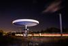 Refueling Light I (ESTjustPHOTO - Elias S Tilavgi) Tags: petrol station deserted night photography long exposure light painting clouds trails