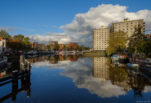 Groningen Oosterhaven on a sunny afternoon