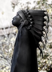 Native American Indian Sculpture in Santa Fe, New Mexico (Kerstin Winters Photography) Tags: sculpture indian americanindian newmexico santafe nativeamerican unitedstates outdoor art detail flickr nikon nikondsl nikondigital nikkor culture statue